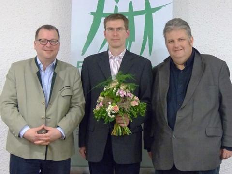 von links nach rechts: Michael Brandt (stv. Vorsitzender), Pavel Jerabek (Vorsitzender), Michael Widmann (stv. Vorsitzender) - Foto: Familienbund