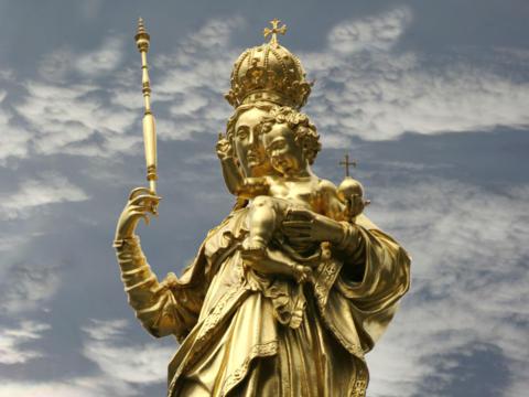 Mariensäule in München (Bild: Wikipedia)