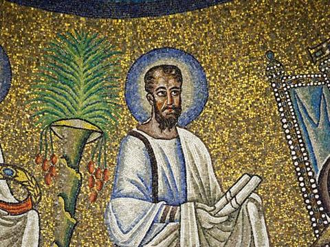 Saint_Paul__Detail_of_the_mosaic_in_Arian_Baptistery__Ravenna,_Italy