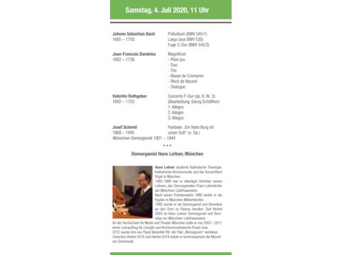 Interpret des Konzertes vom 4. Juli