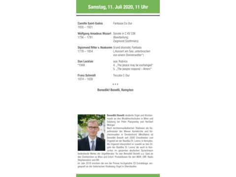 Interpret des Konzertes am 11.7.2020