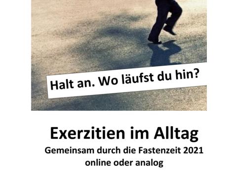 Plakat zu Exerzitien im Alltag