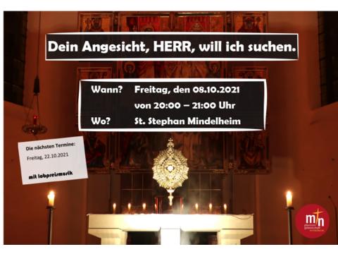 Plakat Eucharistische Anbetung