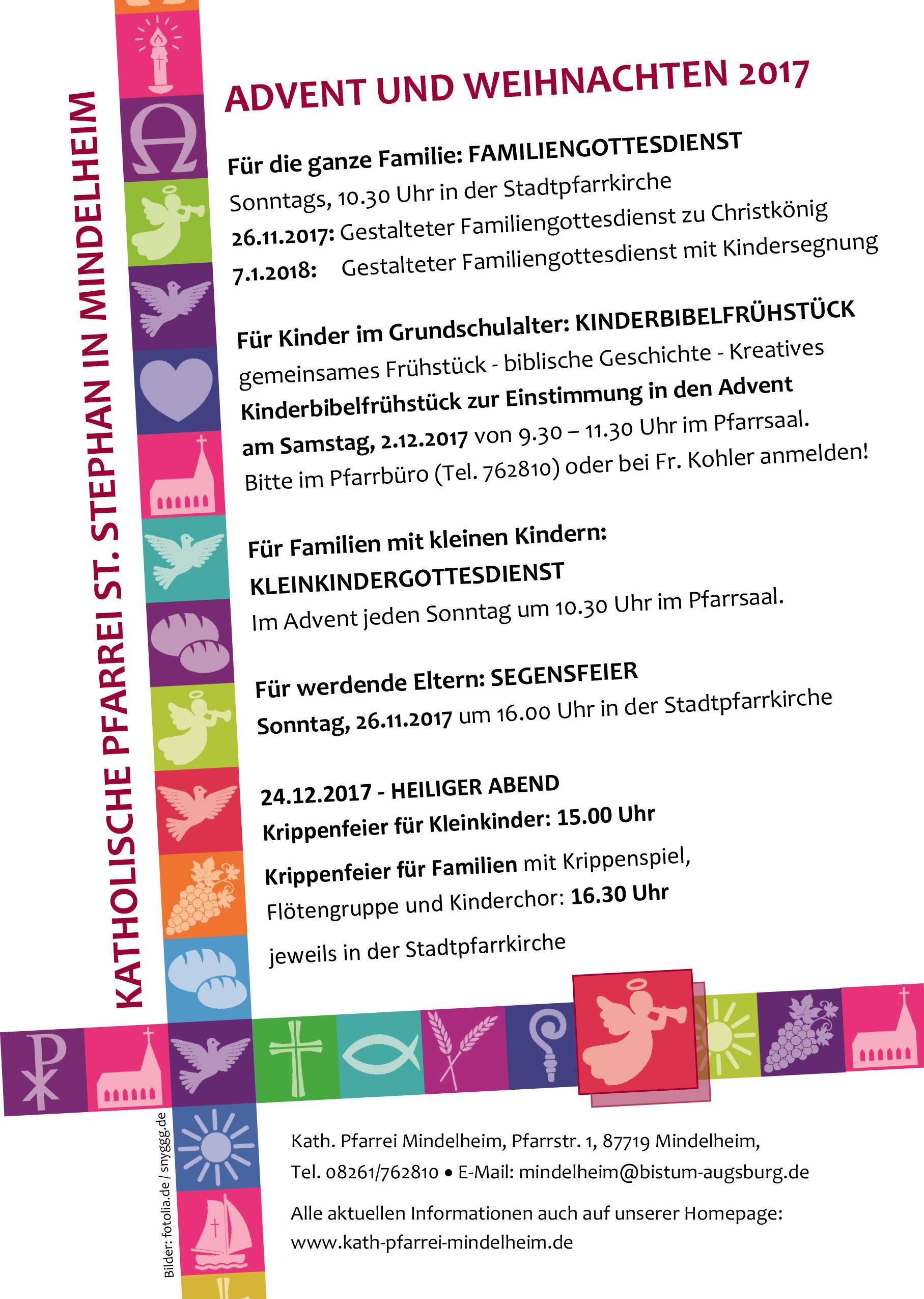 Weihnachten Termine.Termine Für Familien Im Advent Und Weihnachten Bistum Augsburg