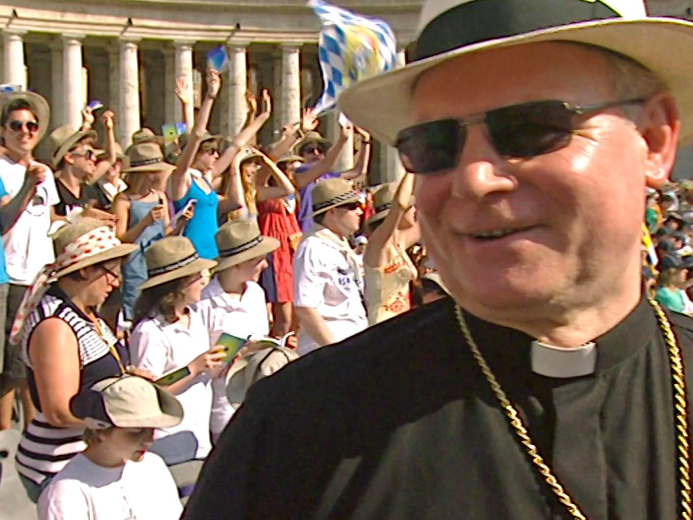Bischof Konrad bei der Ministrantenwallfahrt 2010 in Rom. (Archivbild: BR)