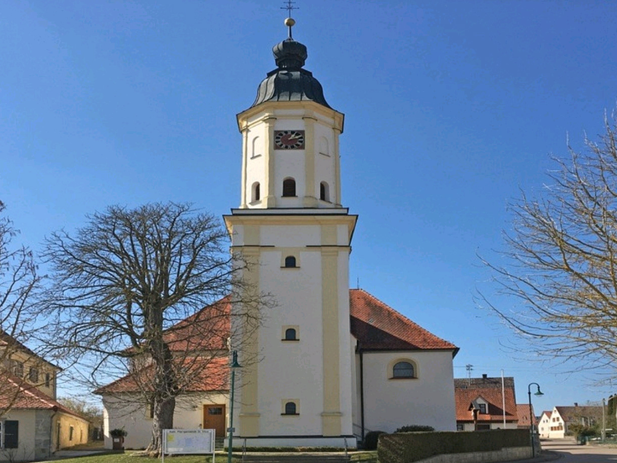 Die Pfarrkirche St. Vitus in Amerdingen (Foto: BR).