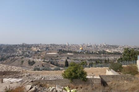 Blick vom Ölberg auf die Altstadt von jerusalem