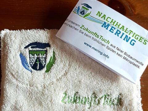 Dieses Spültuch aus Biobaumwolle ist ein gutes Beispiel  für nachhaltige Beschaffung (Foto: Heike John):