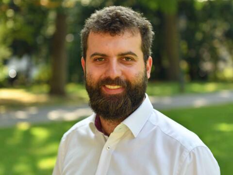 Max Markmiller, Klimaschutzmanager des Bistums Augsburg (Foto: Nicolas Schnall/pba)