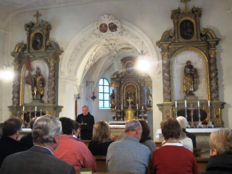 Erzabt Wolfgang Öxler eröffnete den Tag mit einem geistlichen Impuls (Foto: Christoph Wessel)