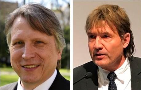 Die Referenten: Bistumshistoriker Domkapitular Dr. Thomas Groll und Dr. Walter Ansbacher vom Verein für Augsburger Bistumsgeschichte