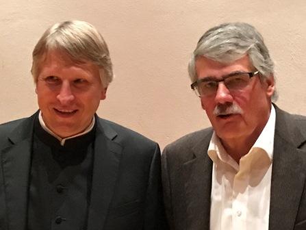 Die Referenten: Bistumshistoriker Domkapitular Dr. Thomas Groll und Dr. Wilfried Sponsel, Stadtarchivar Nördlingen