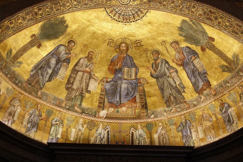 Apsismosaik Sankt Paul vor den Mauern in Rom (Foto: Dr. Peter C. Düren)