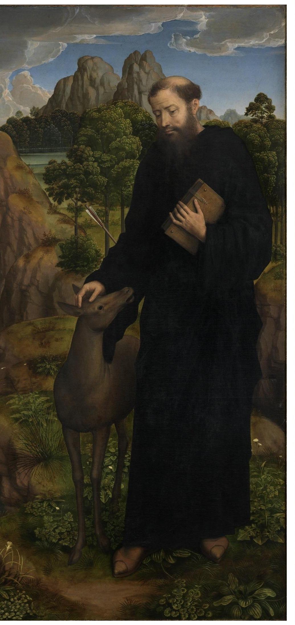 Hans Memling, Aegidius, Detail des Moreel-Tryptichons, 1484, Groeningemuseum, Brügge