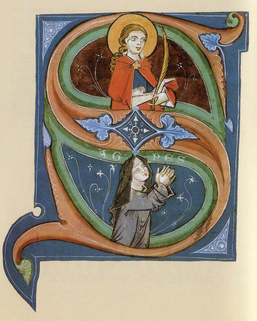 Illuminiertes Lektionar Arnolds von Meissen, 13. Jahrhundert, Klosterbibliothek Marienstern