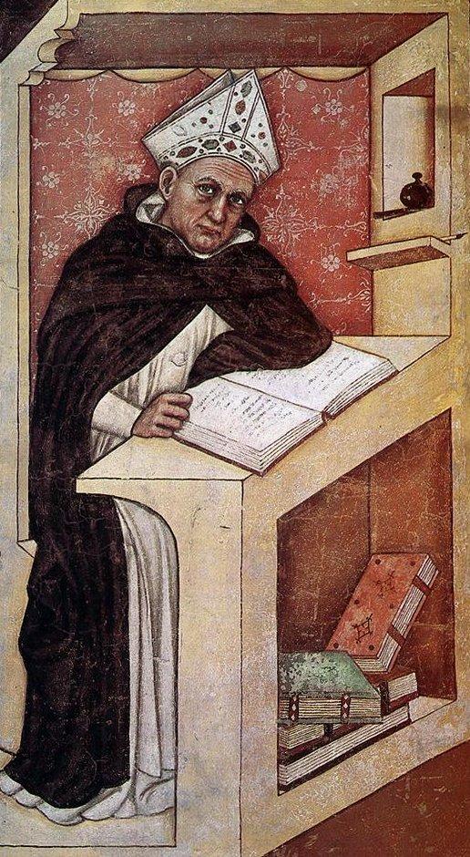 Tommaso da Modena, Fresko im Kapitelsaal des ehemaligen Dominikanerklosters San Niccolò in Treviso, 1352