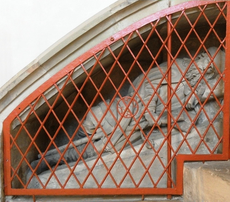 Unter dem Sakramentshäuschen im Liebfrauenmünster Donauwörth, um 1500