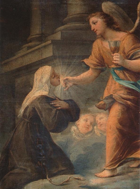 Angela und die himmlische Eucharistie, Chiesa San Giacomo, Foligno