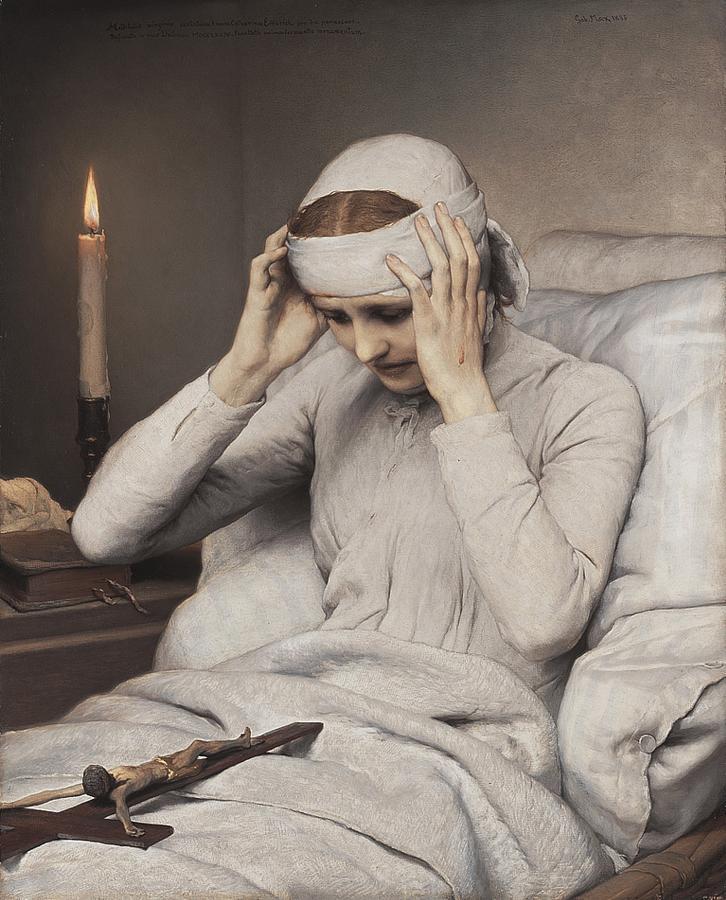 Gabriel von Max, Die ekstatische Jungfrau Katharina Emmerich, 1885, Neue Pinakothek, München
