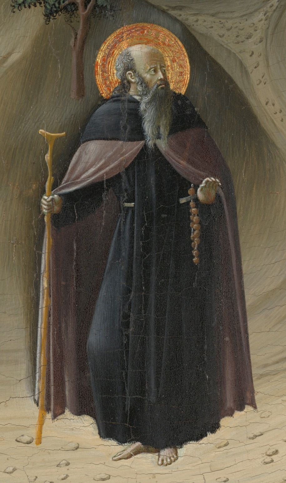 Meister der Osservanza, Die Versuchung des hl. Antonius (Ausschnitt), um 1435, Yale University Art Gallery, New Haven