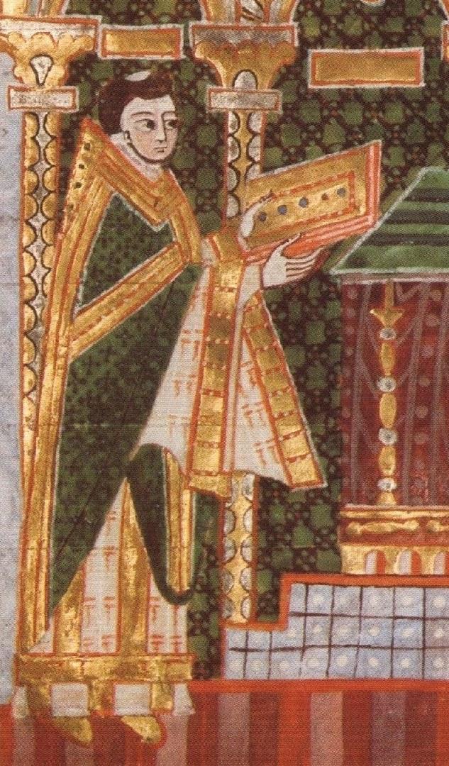 Portrait (Detail) auf dem Kostbaren Bernwardevangeliar, um 1015