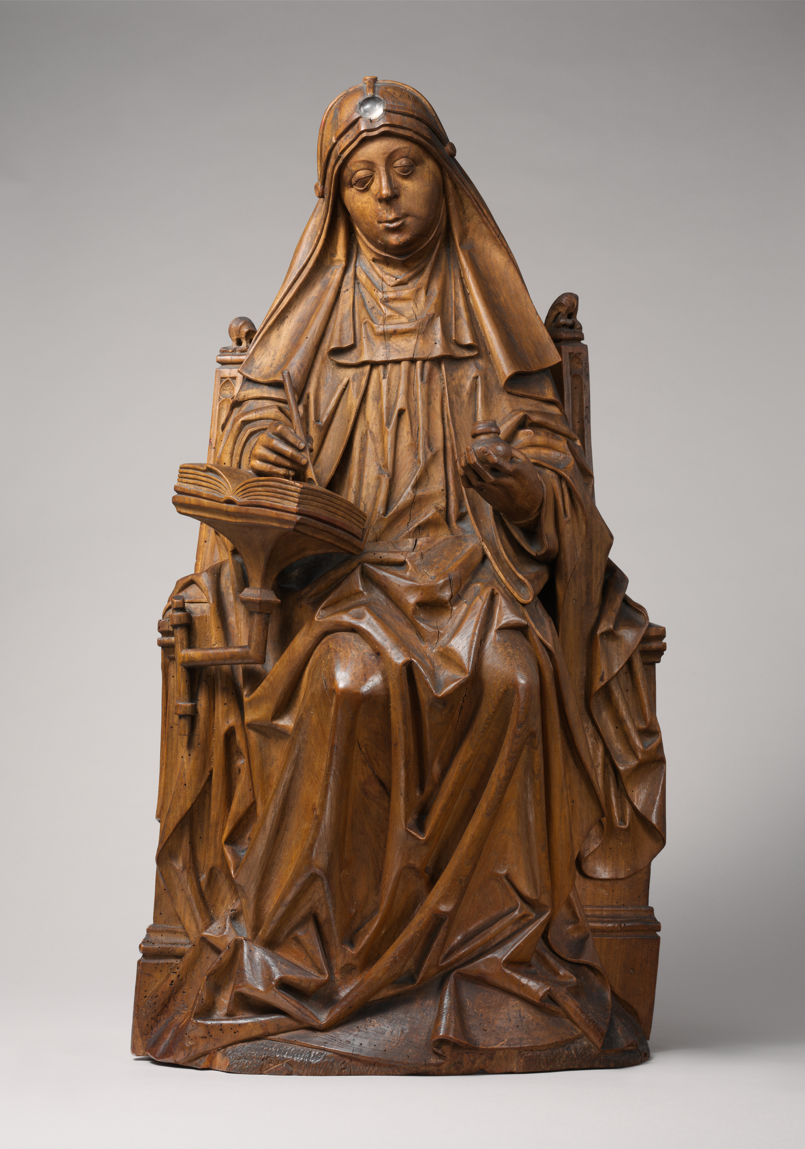 Meister von Soeterbeeck, Die hl. Birgitta bei der Niederschrift ihrer Offenbarungen, um 1470, The Metropolitan Museum of Art, New York