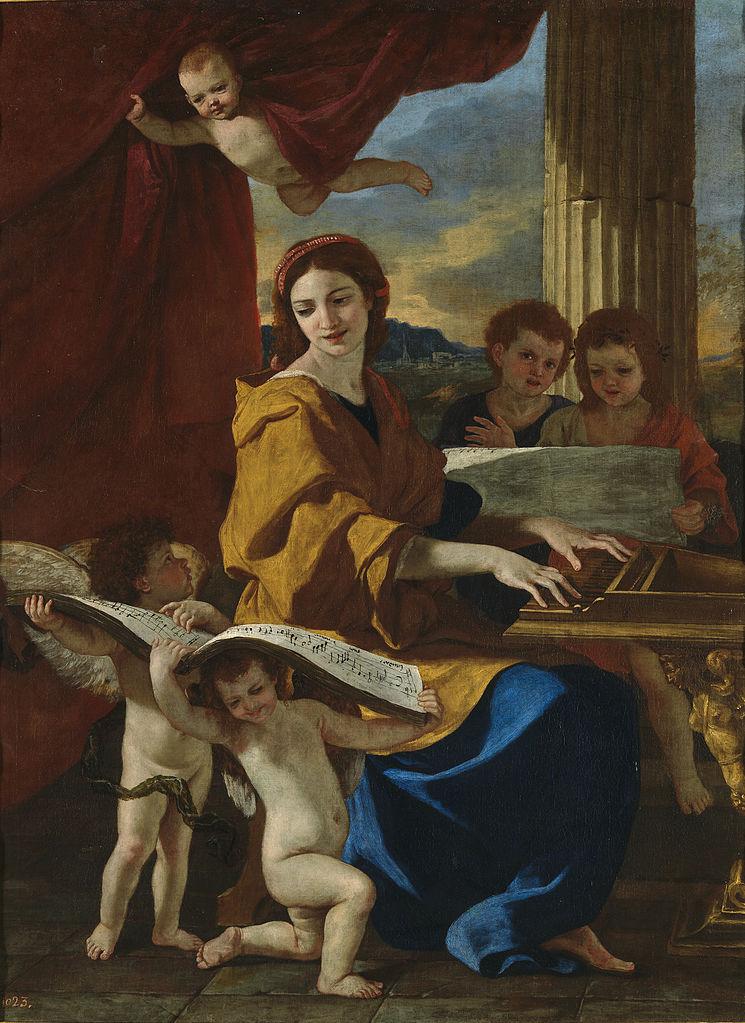 Nicolas Poussin, Sainte-Cécile, 1627/1628, Museo del Prado, Madrid