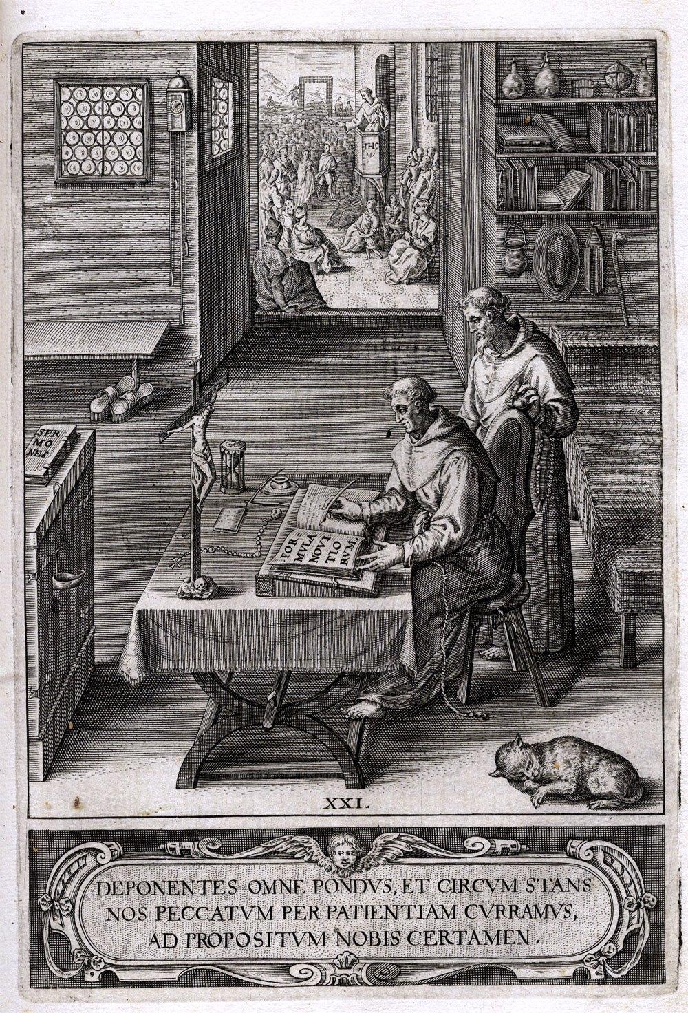 David von Augsburg, aus: Carl Stengel: Der Weitberüehmbten ... Statt Augspurg ... kurtze Kirchen Chronick, Augsburg 1620. Foto: © Universitätsbibliothek Salzburg (CC BY-NC-SA 4.0)