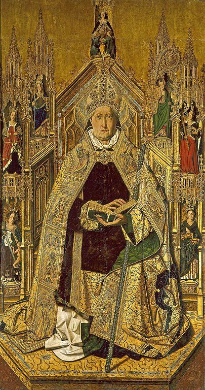 Bartolomé de Cárdenas Bermejo, Der verherrlichte Dominikus, 1474–1477, Museo del Prado, Madrid