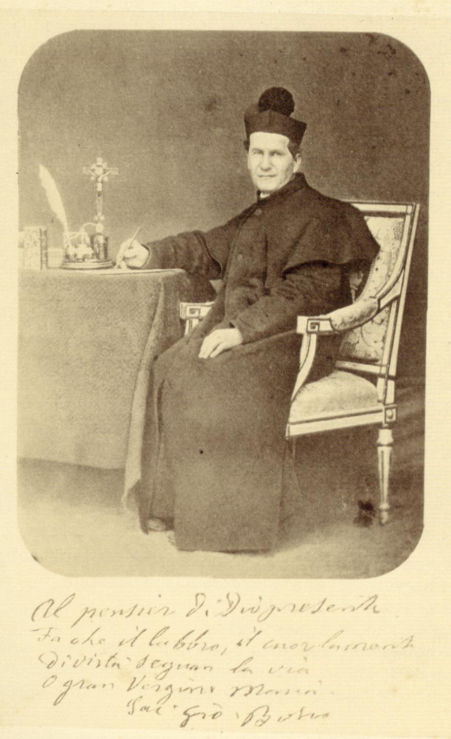Don Bosco am Schreibtisch, 1865/68