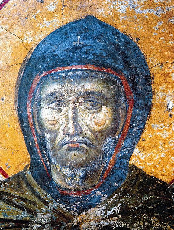 Fresko der Makedonischen Schule in der Protaton-Kirche von Karyes, Athos, 14. Jahrhundert