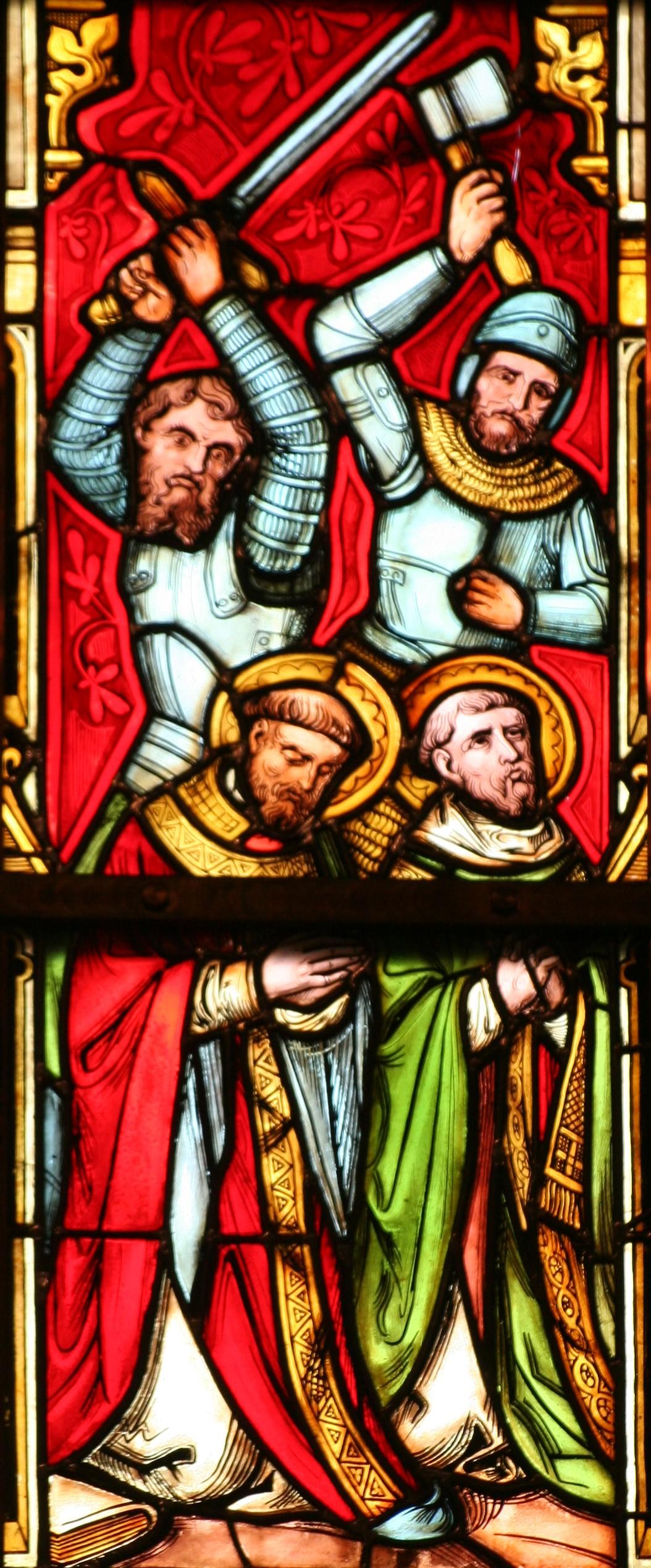 Glasfenster in der Ewaldskirche Druten, Gelderland