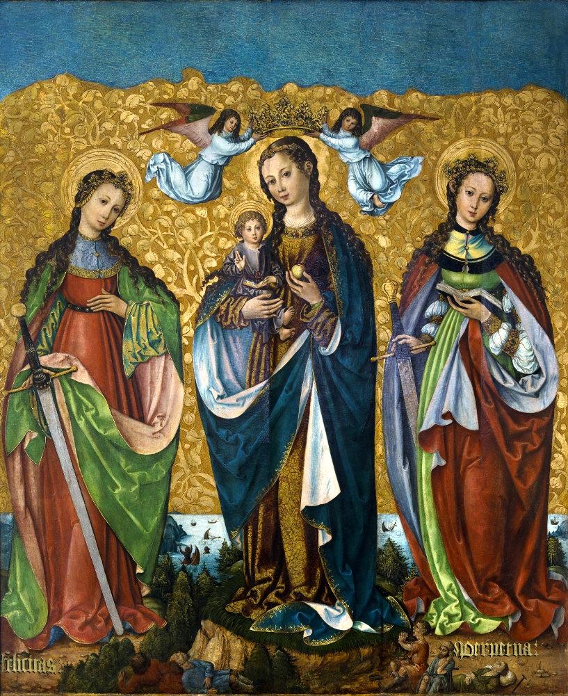 Maria mit dem Kind und den heiligen Felicitas und Perpetua, um 1520, Nationalmuseum, Warschau