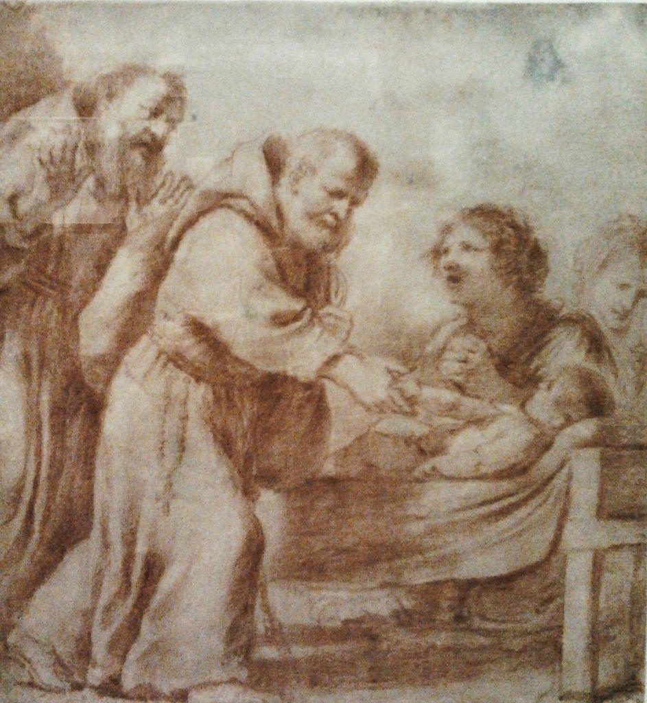 Guercino, Der heilige Felix weckt ein totes Kind zum Leben auf, vor 1629, Nationalmuseum Warschau