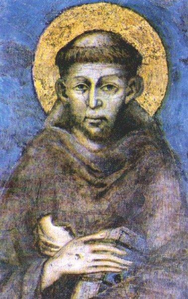 Giovanni Cimabue, Der hl. Franziskus, um 1280, Fresko in der Unterkirche der Basilika San Francesco, Assisi