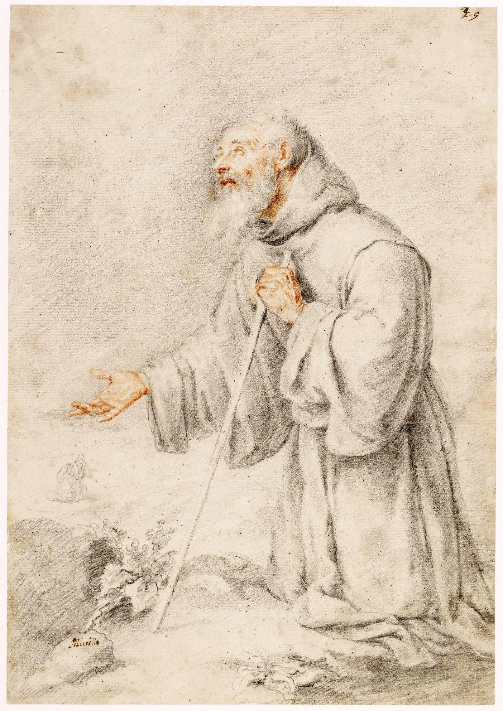 Zeichnung von Bartolomé Esteban Murillo, um 1670, ©Trustees of the British Museum (CC BY-NC-SA 4.0)