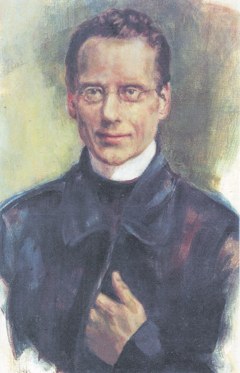 Porträt Seelos' von Jeanine Quienen in der Abteikirche St. Stephan, Augsburg, 2000