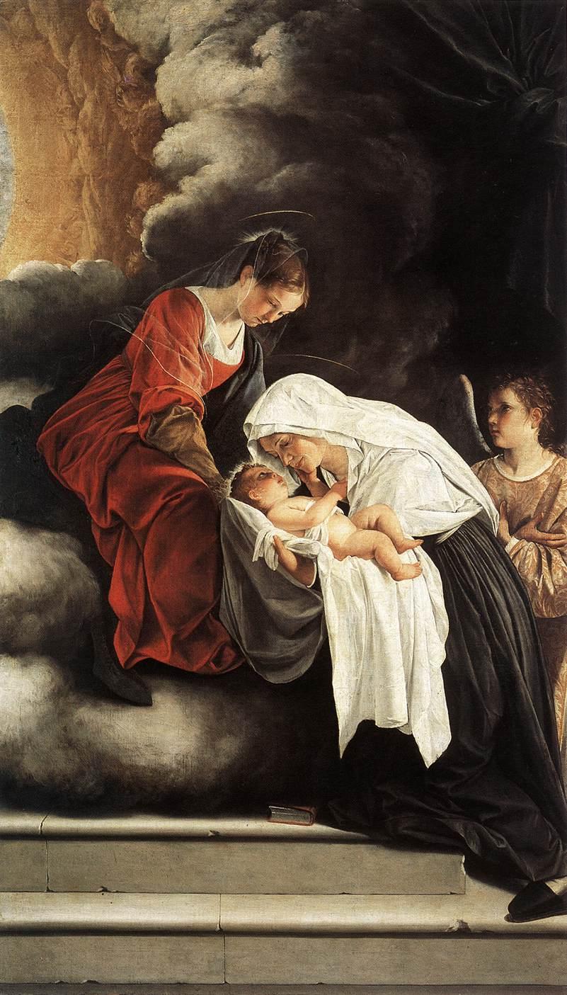 Orazio Gentileschi, Die Vision der hl. Francesca Romana, 1615–1619, Galleria Nazionale delle Marche, Urbino