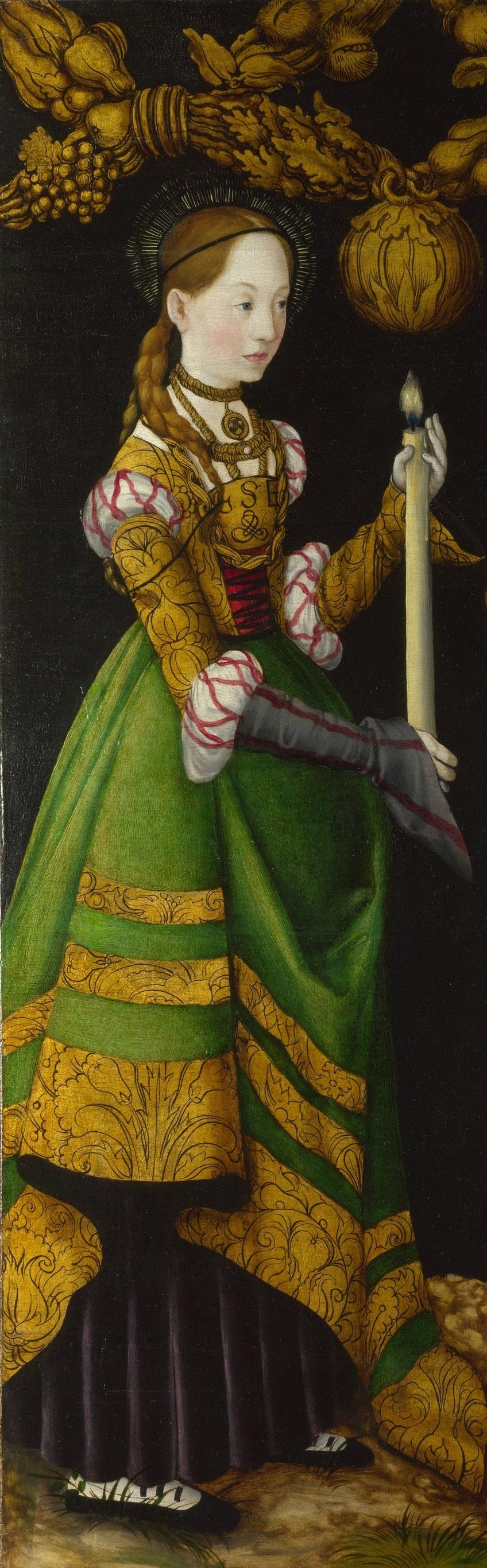 Lucas Cranach d.Ä., Die hl. Genoveva, Katharinenaltar, 1506, Gemäldegalerie Alter Meister, Dresden