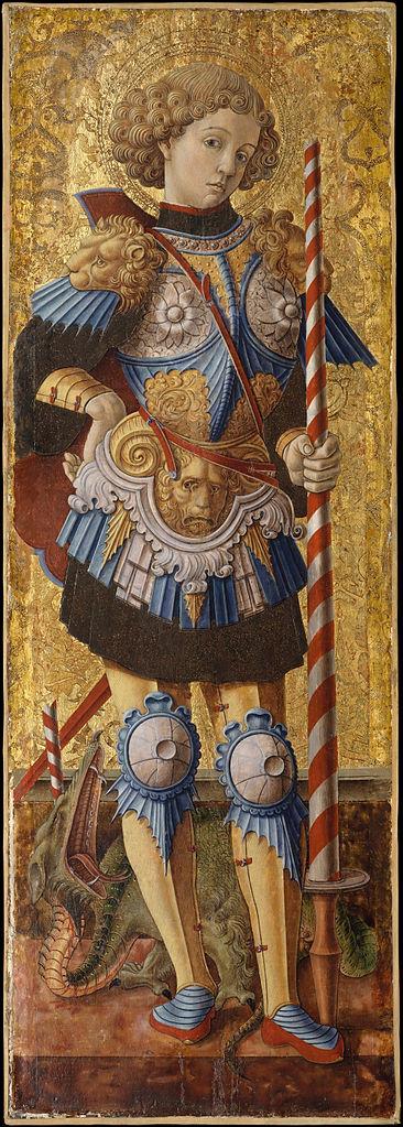 Carlo Crivelli, Der heilige Georg, 1472, Metropolitan Museum of Art, New York