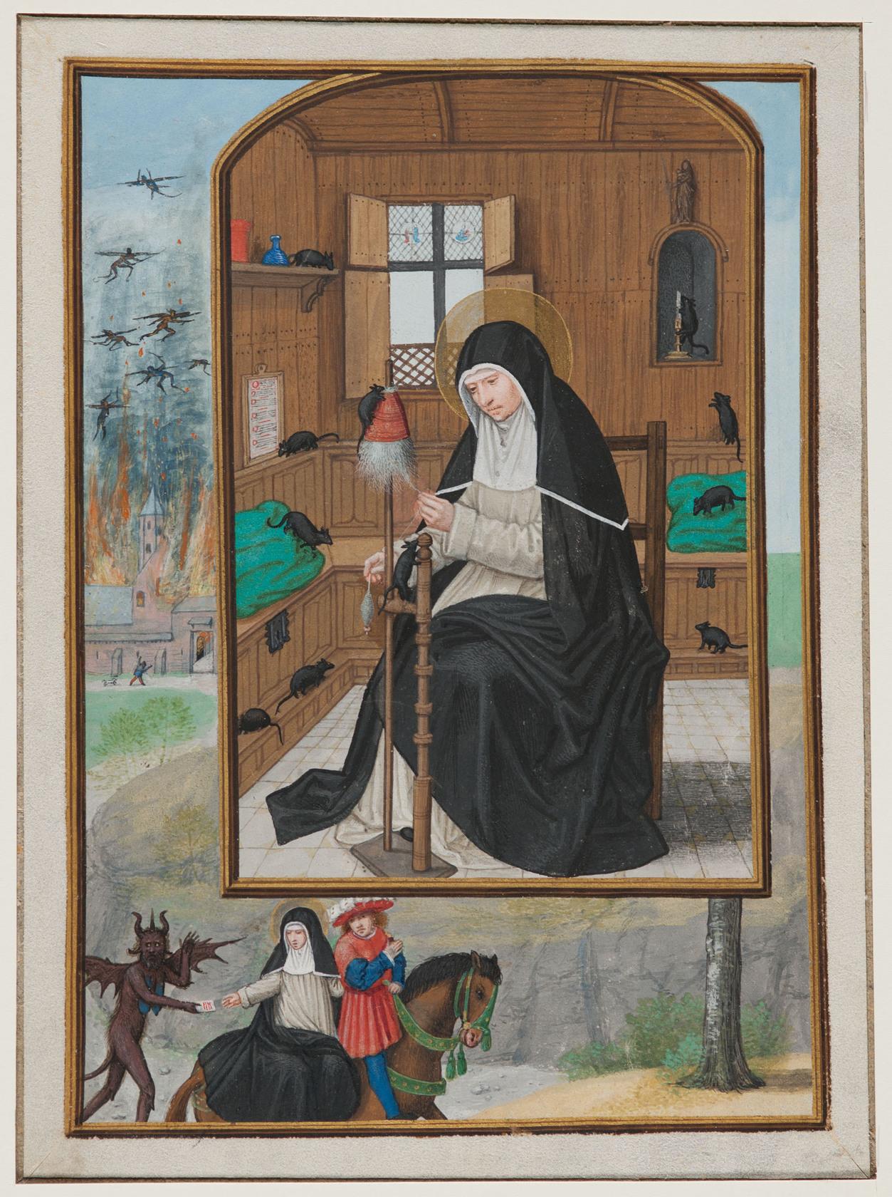 Illustration von Simon Bening im Stundenbuch Kardinal Albrechts von Brandenburg, um 1523, Carnegie Museum of Art, Pittsburgh