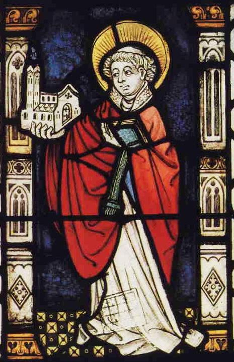Glasmalerei in der Stiftskirche zu St. Goar, um 1450