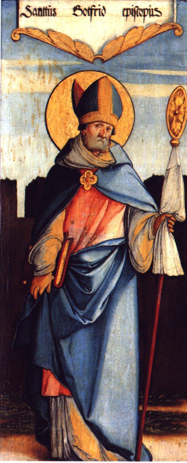 Meister von Meßkirch, Heiliger Bischof Gottfried, um 1535/40, Donaueschingen, Fürstenbergsammlungen