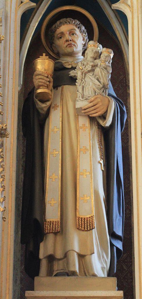 Figur auf dem Hochaltar der Dominikanerkirche Friesach (Kärnten), um 1890