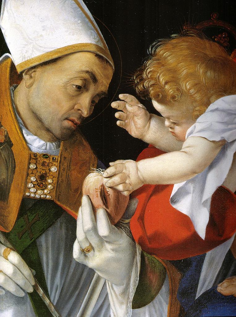 Lorenzo Lotto, Madonna mit einem hl. Bischof und dem hl. Onuphrius (Ausschnitt), 1512, Galleria Borghese, Rom
