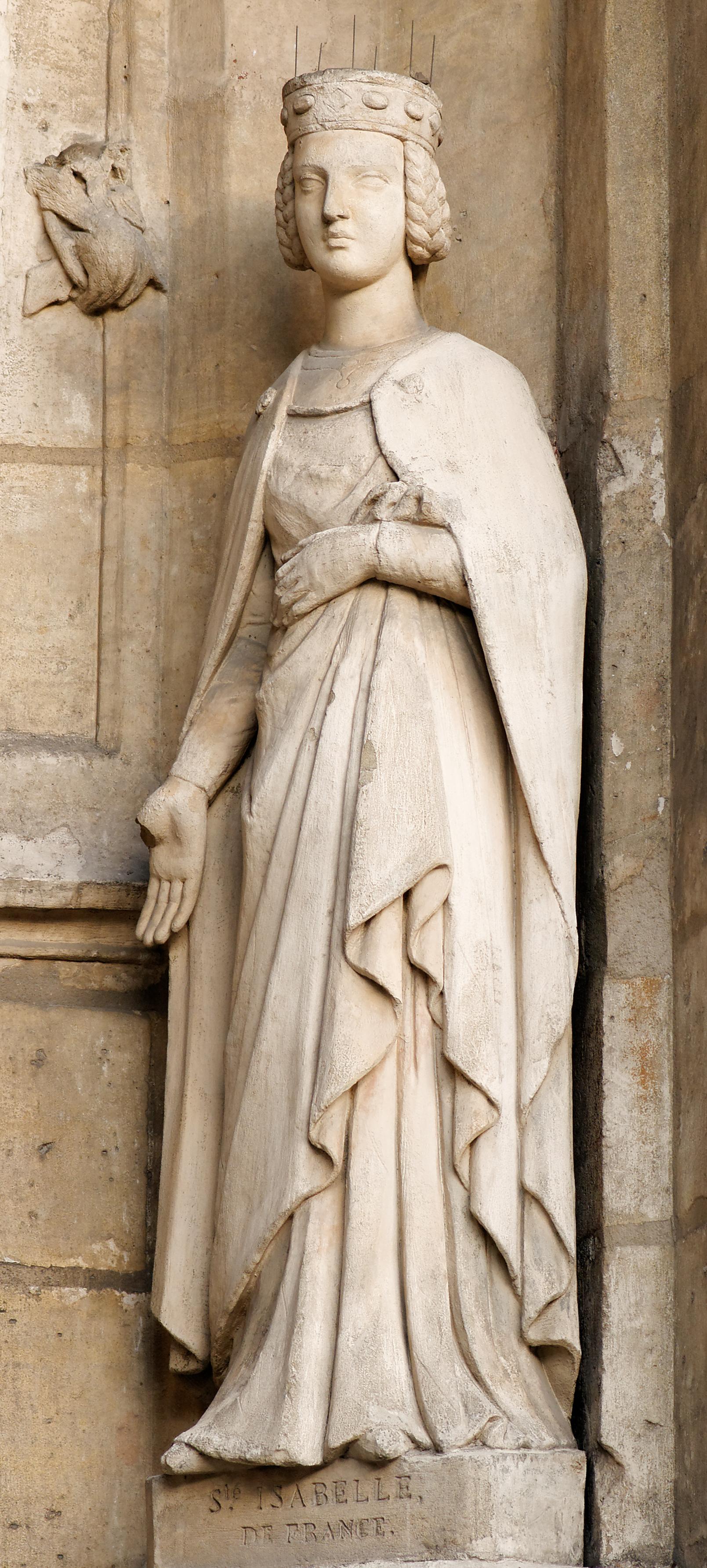 Louis Desprez, Isabelle de France, 1841, Portal der Kirche Saint-Germain-l'Auxerrois, Paris. Foto: Marie-Lan Nguyen (CC-BY-SA 3.0)