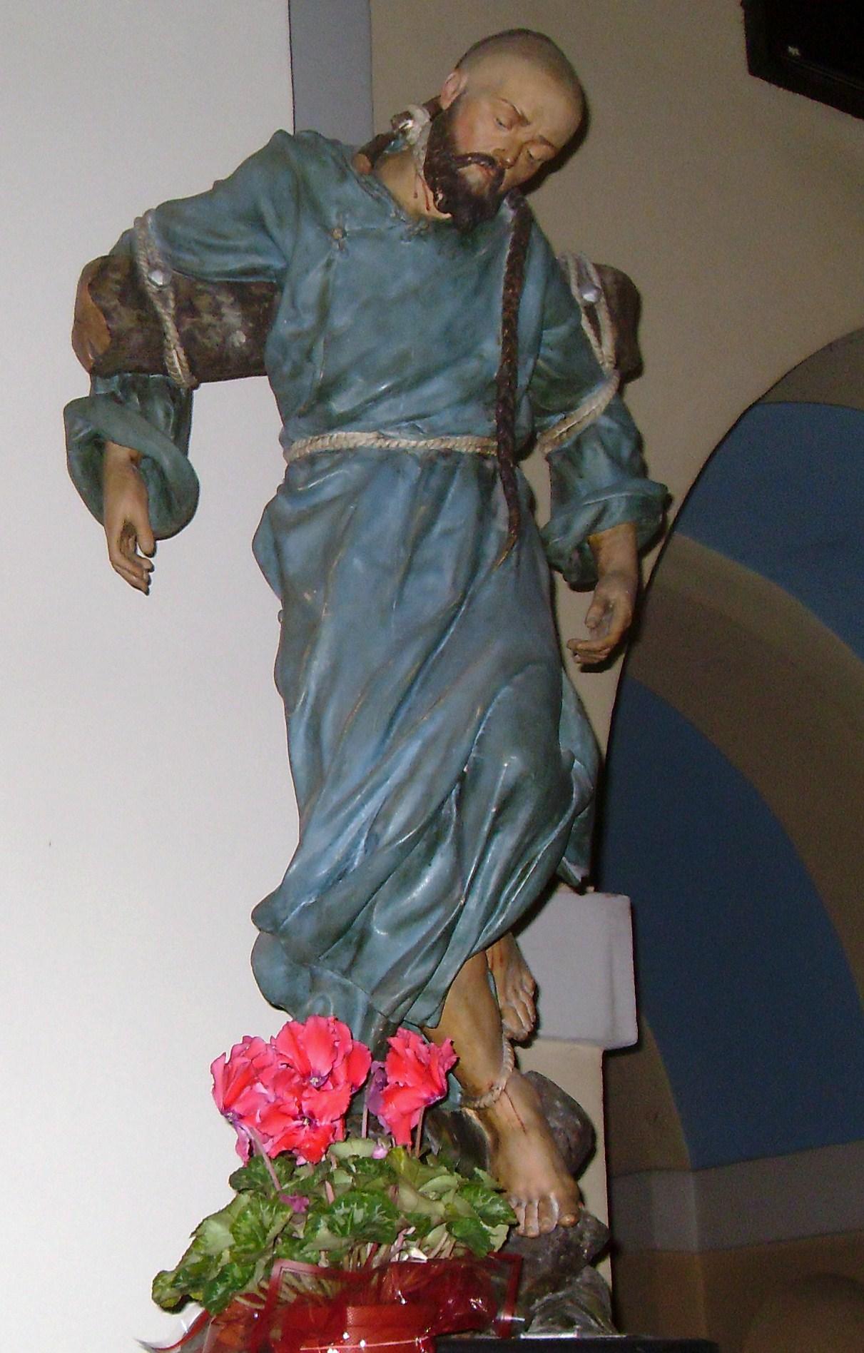 Statue in der Krakauer Karmelitenkirche, nach einem Andachtsbild