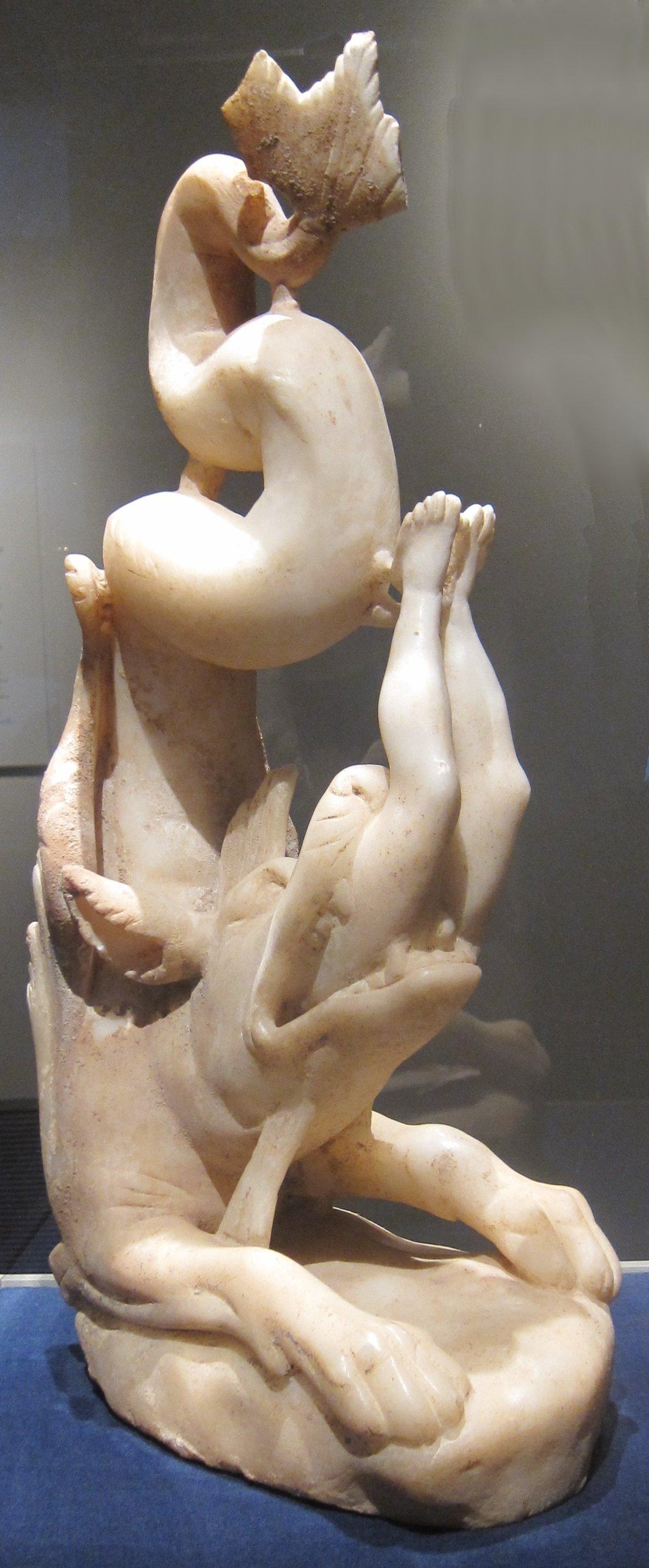 Jonas wird vom Fisch verschluckt, um 280–290, Cleveland Museum of Art