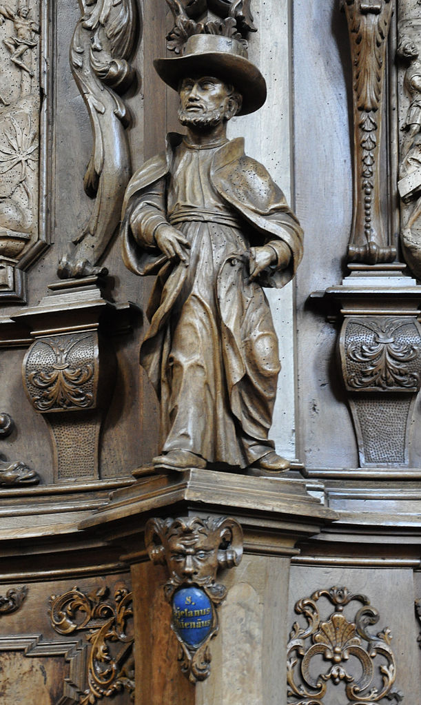 Statuette von Georg Anton Machein (und Werkstatt, 1715–1717) im Chorgestühl der ehemaligen Klosterkirche St. Magnus, Bad Schussenried. Foto: Andreas Praefcke