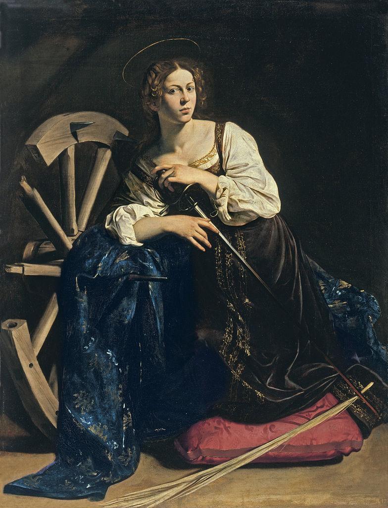 Caravaggio, Die heilige Katharina, um 1598, Museo Thyssen-Bornemisza, Madrid